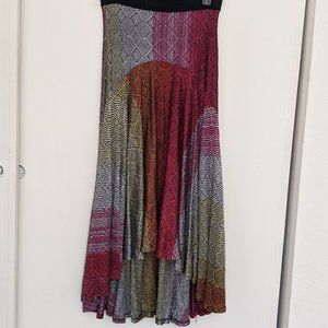 Anthropologie Celia Prado High Low Maxi Knit Skirt